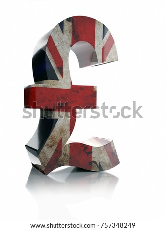 3 D Rendering British Pound Sterling Currency Stock Illustration