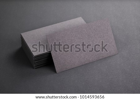 3d rendering business card blank template stock illustration 3d rendering of business card blank template black business cards on black background accmission Gallery