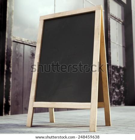 3D rendering of chalkboard - stock photo
