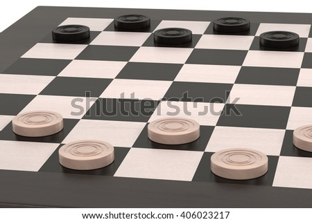 3d rendering of checkers game