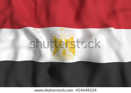 3d rendering of Egypt flag waving