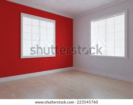 3D Rendering of empty interior