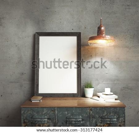 3d rendering of frame - stock photo