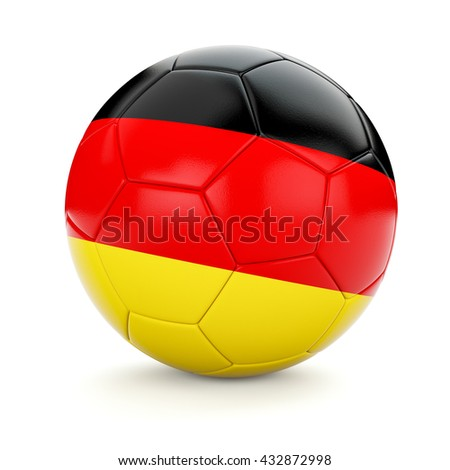 3d rendering of Germany soccer football ball with German flag isolated on white background - stock photo