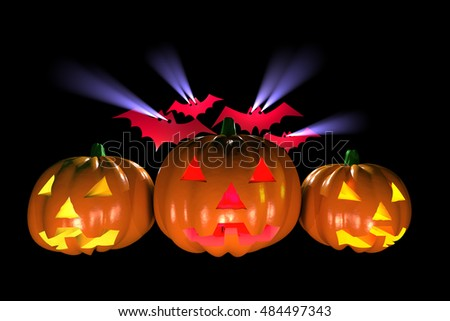 3D rendering of Halloween