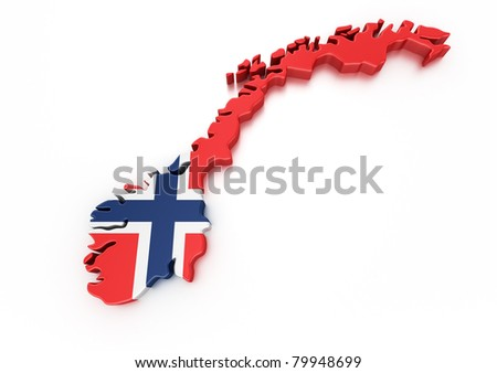 3d rendering of Holland isolated - stock photo