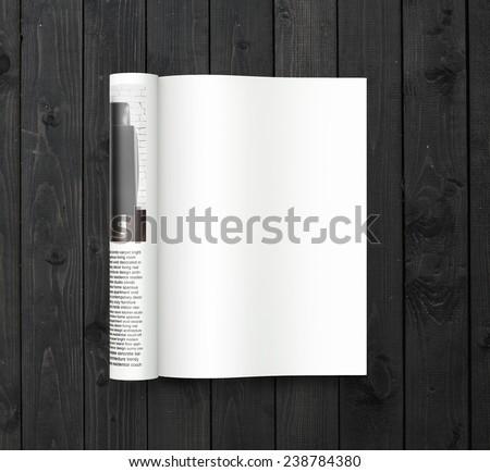3D rendering of magazine - stock photo