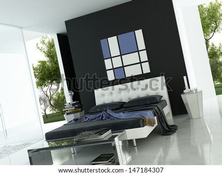 3D rendering of modern apartment interior