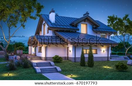 Chalet stockafbeeldingen rechtenvrije afbeeldingen en for Chalet style homes for sale