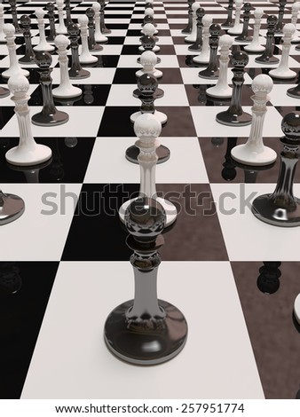 3d rendering of pawn chess - stock photo