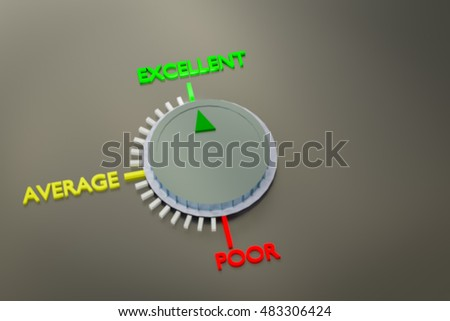 3D rendering of performance speed dial