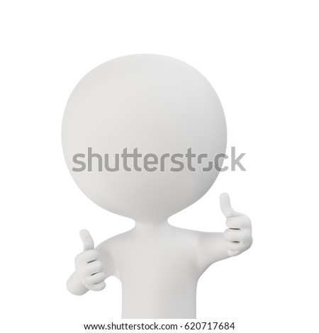 3d rendering of person who take positive poses