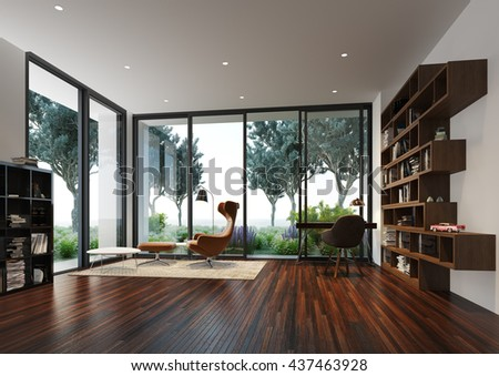 3D Rendering of reading area