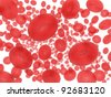 3D rendering of red blood cells - stock photo
