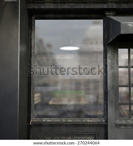 3d rendering of showcase - stock photo