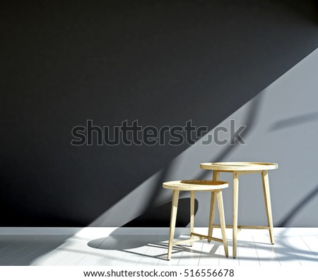 3D rendering of side table