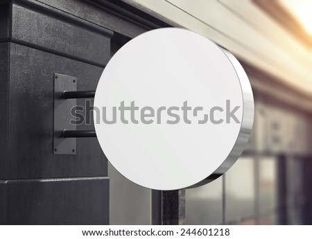 3D rendering of signboard - stock photo