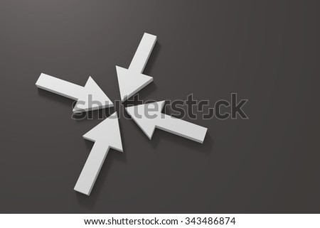 3d rendering of some white arrows - stock photo