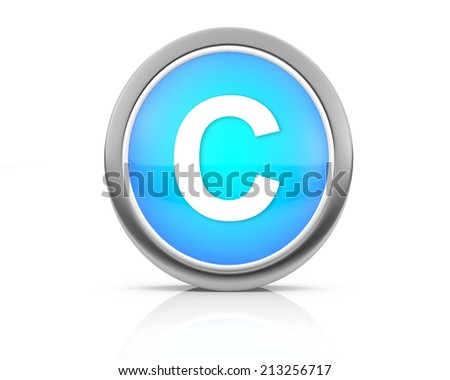 3d rendering of the letter C