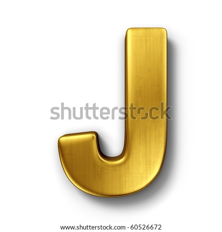 Gold Letter J Stock Royalty Free & Vectors