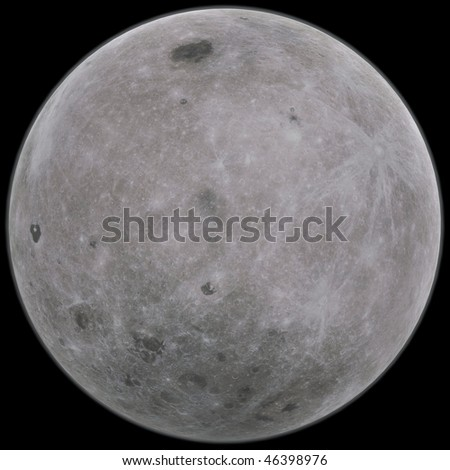3d rendering of the Moon