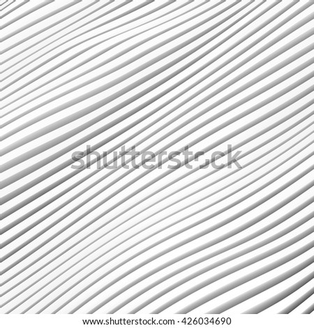 3d Rendering of White Stripe  Background. Modern Minimal Architecture Design - stock photo