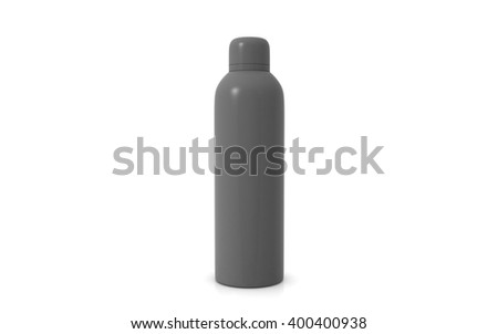 3D rendering perfume bottle on white background - stock photo