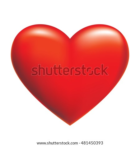 3D Rendering Red Heart