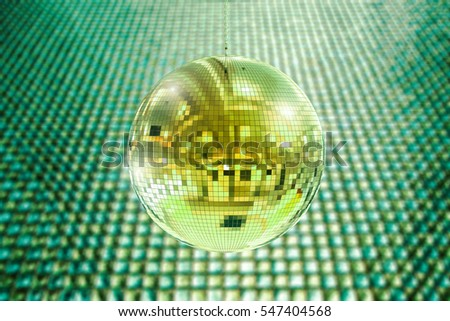 3d rendering shiny disco ball or mirror ball