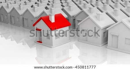 3d rendering small houses complex