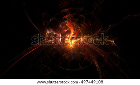 3D rendering spark light background