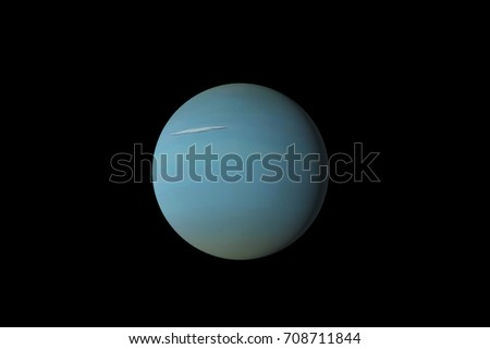 3d rendering. The  Uranus isolated with background. Extremely detailed image.