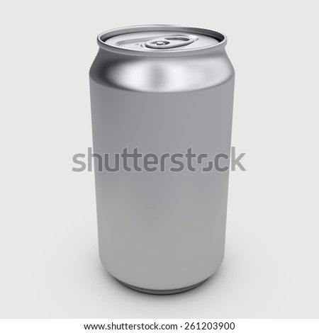 3d rendering tin drinking container - stock photo