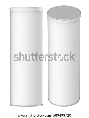 Empty cookie jar for Cylinder packaging template