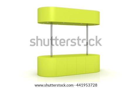 3D Retail Trade Stand Isolated on the white background. kiosk