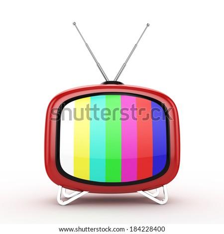 3d Retro TV - isolated - stock photo