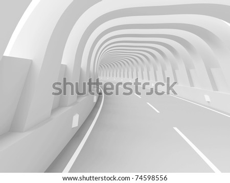 3d Road - stock photo