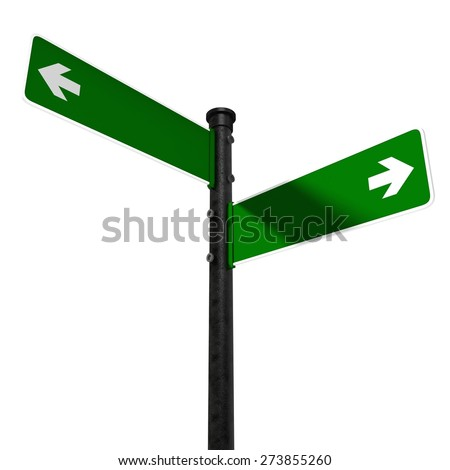 3D. Road Sign, Sign, Directional Sign. - stock photo