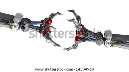 3d robotic hand - stock photo