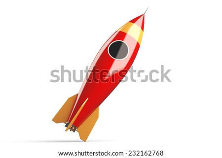 3D Rocket icon - stock photo