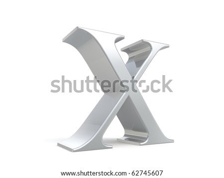 3d roman number ten from my metal collection - stock photo