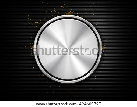 3d Round design with black striped background