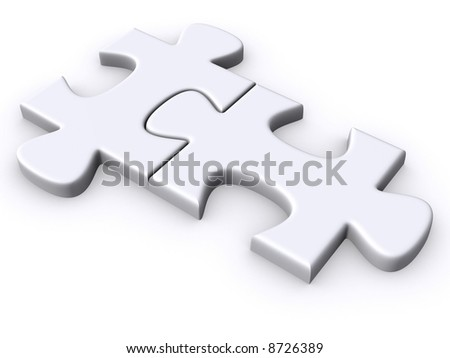 3d, rounded puzzle pieces