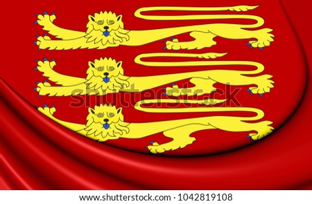3D Royal Standard of England. 3D Illustration.