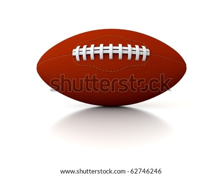 3d rugby ball isolated on white background - stock photo