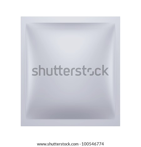 3D sachet hanger bag package, isolated