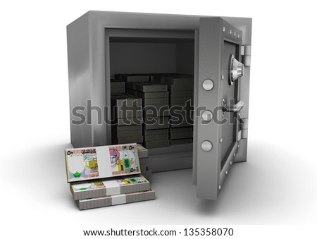 3D safe and Oman money