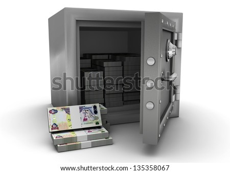 3D safe and United Arab of Emirates money
