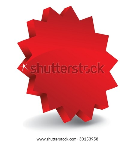 3d sale label / red - stock photo