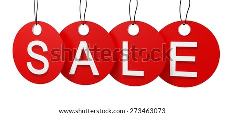 3D. Sale, Sign, Label.